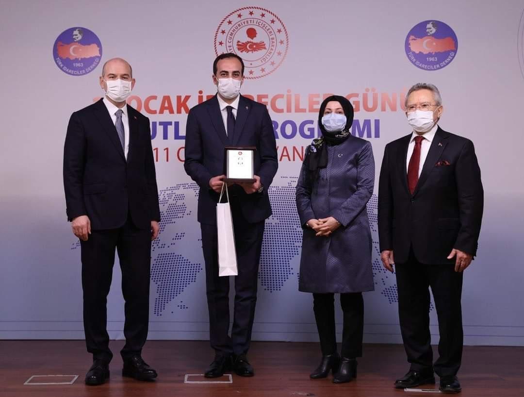 Dereli Kaymakamı Murat Atıcı'ya Anlamlı Ödül