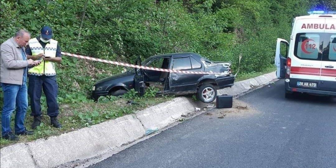 Dereli Kümbet Yolunda Trafik Kazası