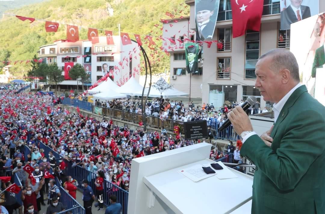 Recep Tayyip Erdoğan Dereli'lilerle Buluştu