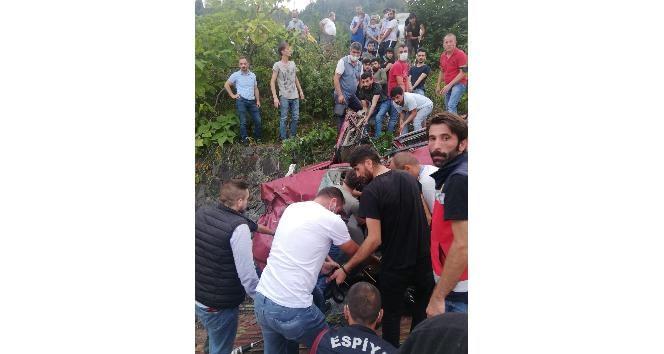 Espiye de Akılalmaz Kaza 1 Ölü 3 Yaralı